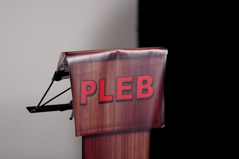 The PLEB Lectern -photo by Angus Young